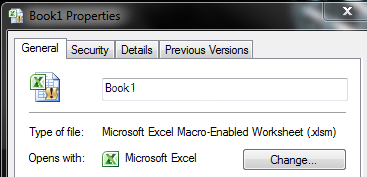 Why does my Excel Spreadsheet icon have an exclamation point