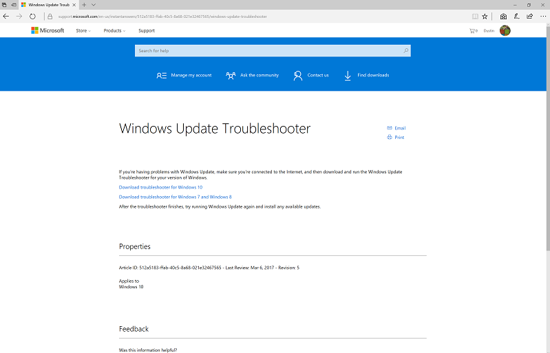 start menu troubleshooter from microsoft